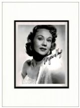 Virginia Mayo Autograph Signed Photo